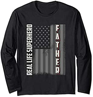 ⭐️⭐️⭐️ Real Life Superhero Father Long sleeve  Father's Day Need Funny Short/Long Sleeve Shirt/Hoodie
