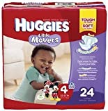 Huggies Little Movers Diapers Step 4 Jumbo Pack, 22 to 37 Lb Weight
