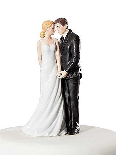 Wedding Collectibles Personalized Wedding Bliss Cake Topper Figurine: Bride Hair: BLOND - Groom Hair: (Blonde Groom)