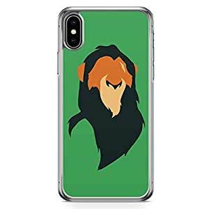 Loud Universe The Lion King iPhone XS Case Mufasa Minimal iPhone XS Cover with Transparent Edges