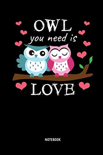 Owl You Need Is Love | Notebook: Lined Owl Notebook / Journal. Great Owl Accessories & Novelty Gift Idea for all Owl Lover for Valentine's Day.]()