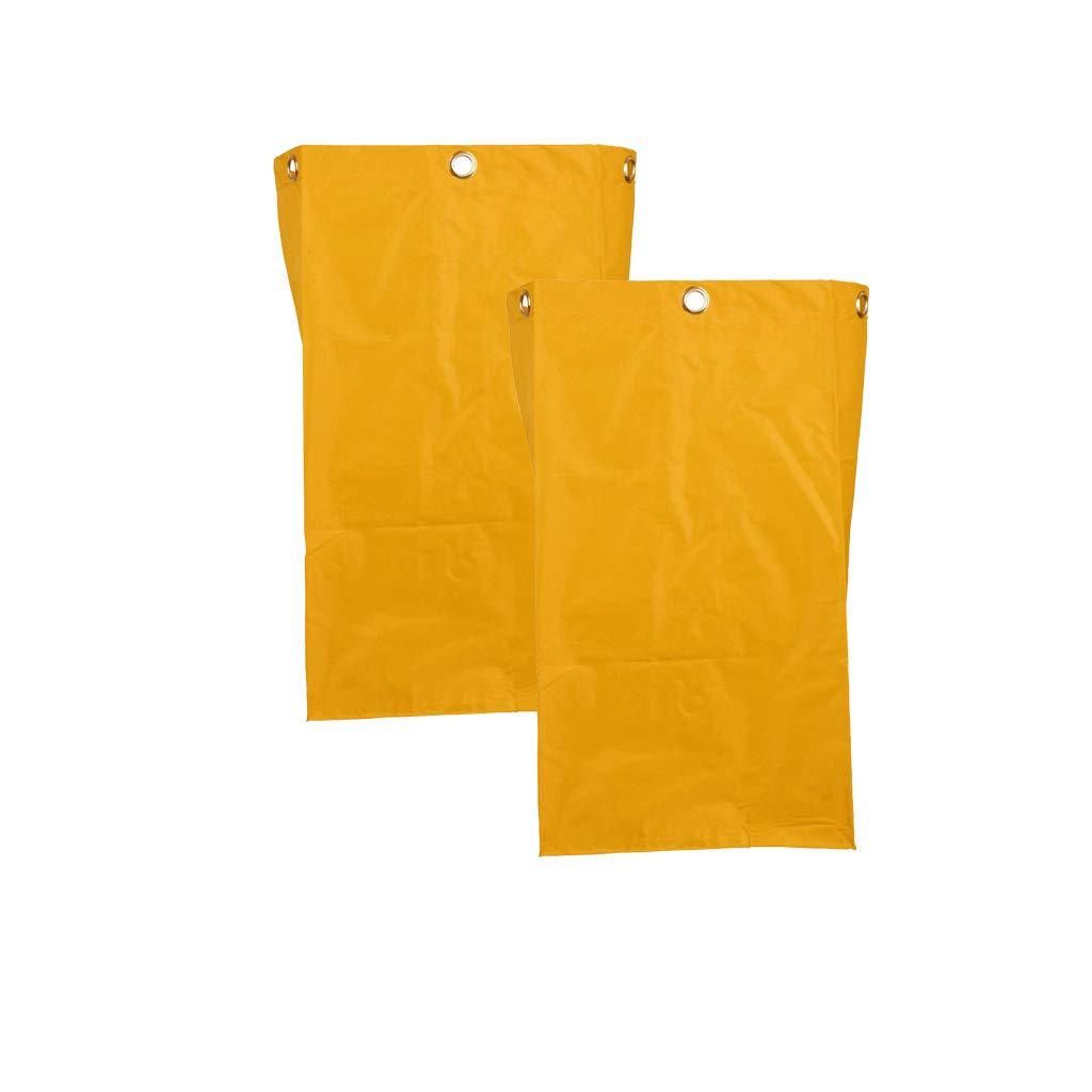Homyl Oxford Waterproof Janitorial Cleaning Cart Bag Replacement Housekeeping Cart Bag Yellow