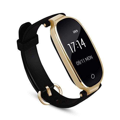 Fitness Tracker, Women Smart Fitness Watch, Heart Rate Monitor Smart Bracelet IP67 Waterproof Smart Bracelet with Health Sleep Activity Tracker Pedometer for Smartphone (Best Workout Watches 2019)