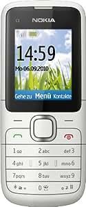 "Nokia C1-01 - Móvil libre (pantalla de 1,8"" 128 x 160, cámara 0.3 MP, 64 MB de capacidad, S.O. Symbian) color plata [importado de Alemania]"