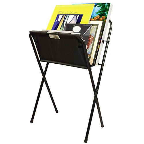 - Creative Mark Folding Canvas Art & Display Rack - Art Gallery Display Rack for Displaying Artwork Canvas, Panels, Storage Rack, Drying Rack - [Black - 42 x 24