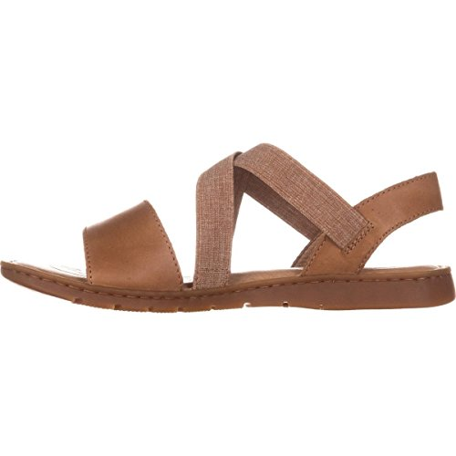 Born Womens Britton Leather Open Toe Casual Slide Sandals, Brown, Size 8.0