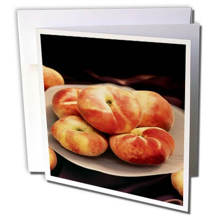 3dRose TDSwhite – Farm and Food - Food Peaches - 12 Greeting Cards with Envelopes (gc_285163_2) by 3dRose