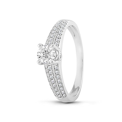 Diamond2Deal Diamond Engagement Ring 14K In White Gold 1/2 Ct Size-6 by Diamond2Deal