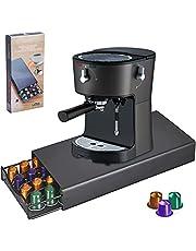 Amzeeniu Capsulehouder voor Nespresso voor 40 Capsules, Compatibel, Capsule Lade, Capsule Stand, Capsule Opslag, Koffie Capsule Dispenser, Anti-slip voeten Zwart, Stand met mesh vormige compartimenten
