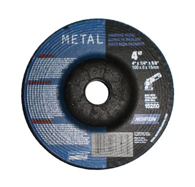 Norton Grinding Wheels 4'' X ¼'' X 5/8''- Metal Cutting (20/box)
