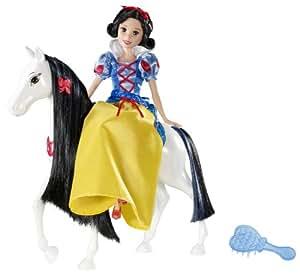 Disney V1659 - Muñeca de Blancanieves con caballo y peine