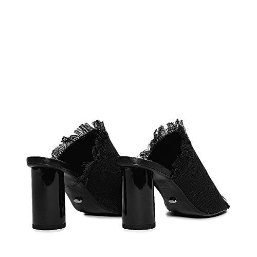Cylinder Mules Bacardi Bianco Polished Heels Black Shoes With Open Womens Tony Toe Osaka qtUFwzF