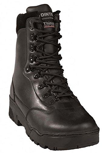 Mil-Tec–Botas Tactical piel negro