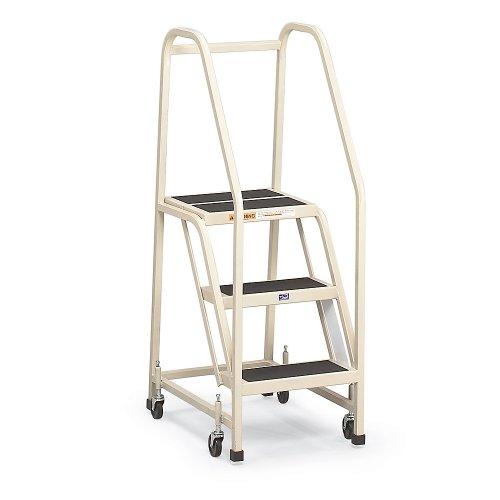 EGA Mobile Office Ladder - Two Step - Sandalwood - No Handrails