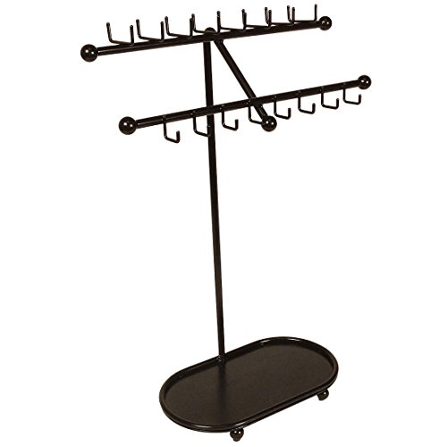 s JR21-ORB Oil Rubbed Bronze Tree Organizer Free Standing Necklace Holder & Jewelry Display Rack with Tray ()