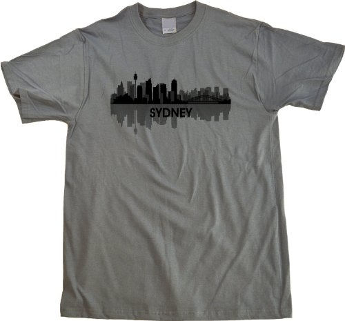 Sydney, Australia City Skyline Unisex T-shirt Aussie Civic Pride Grey Tee
