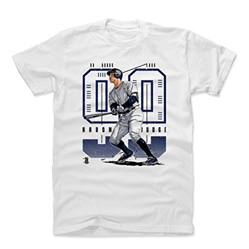 500 LEVEL Aaron Judge Cotton Shirt Medium White - New York Baseball Men's Apparel - Aaron Judge Future - Ny White Yankees Shirt