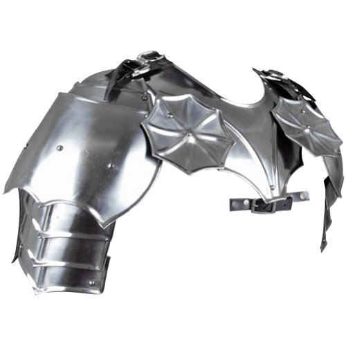 Armor Venue - Gothic Gorget with Pauldrons - Metallic - One Size Armour