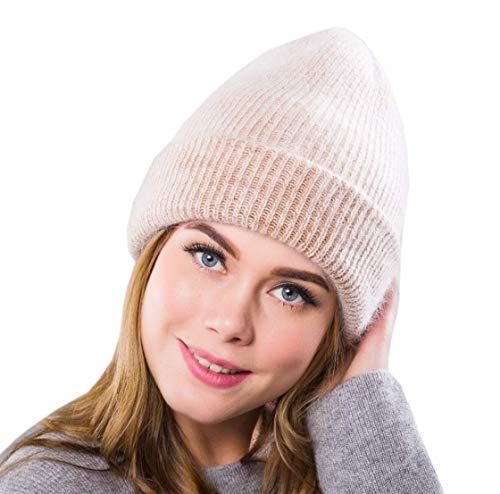 las mujeres Wool Khaki Hat para Skull Acvip Tricot Beanie Cap Blend YEvx6Y0n1
