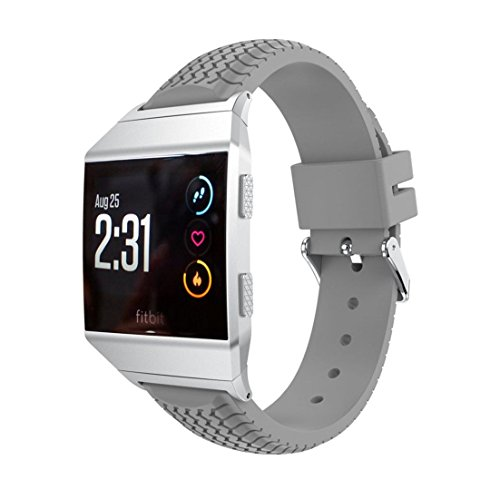 Fitbit Ionic Band, HANYI Tire Silica Gel Buckle Wrist Watch Band Replacement Strap Belt for Fitbit Ionic - Blaze Sunny