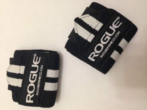 Rogue Fitness Wrist Wraps | Available in Multiple Colors (Black/White, 24'')
