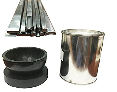 """Deep 8"""" Bowl, Rubber Pad, Black Pitch 32 oz and 20 pc Chasing Tool Set"""