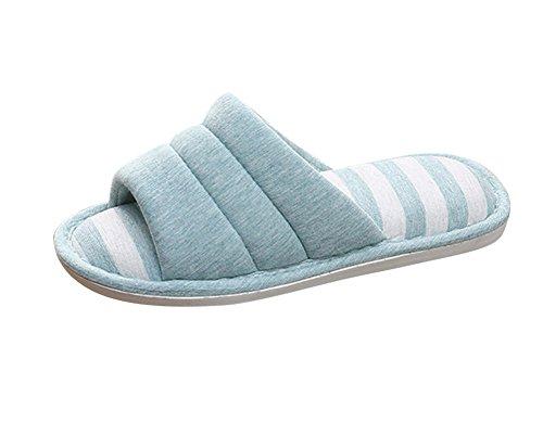Plat Chaussons d'hiver et Tongs Femmes Bleu1 Chaud Hommes Derapant Chaussures Anti Pantoufles Chaussures SqZPnEw