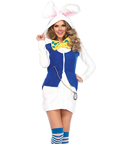 Cozy White Rabbit Adult Costume - (Cozy Bunny Adult Costumes)