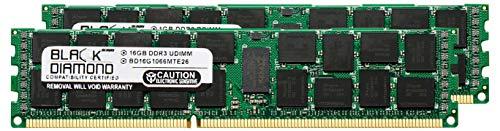 (32GB 2X16GB Memory RAM for Compaq ProLiant BL460c G7 Server Blade DDR3 ECC Registered RDIMM 240pin PC3-8500 1066MHz Black Diamond Memory Module Upgrade)