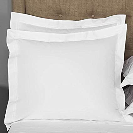 Amazon Euro Square 40Piece Pillow Shams White Solid 40 Thread Extraordinary Decorative Bed Pillow Shams