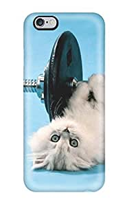 For Iphone 6 Plus Tpu Phone Case Cover(funny Cat )