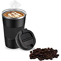 13oz Insulated Coffee Cup, Double Walled Travel Mug Vacuum Insulation Stainless Steel with Leakproof Lid Eco-Friendly…
