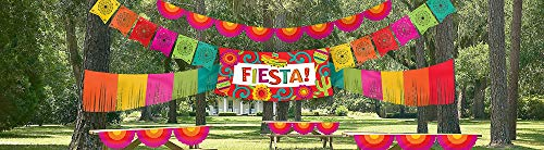 (amscan Giant Fiesta Multicolored Indoor/Outdoor Decorating Kit | Party Decoration)