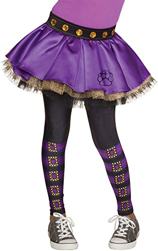 Rubie's Monster High Clawdeen Wolf Skeggings Tutu with Leggings ()