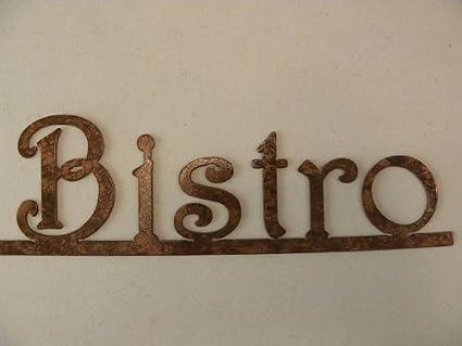 Amazon.com: Decorative Metal Wall Art Bistro Word on Bar Kitchen ...