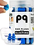PQ Earplugs for Sleep – Ear Plugs for Sleeping - Noise Cancelling 32 dB - Comfortable & Reusable Ear Plugs for for Snoring - with Reusable Earplugs for Swimming & Traveling