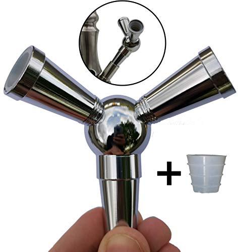 FlyCol Shisha Schlauch Adapter | 1 zu 2 Verteiler zum Anschluss weiterer Schläuche an deiner Wasserpfeife | Splitter…