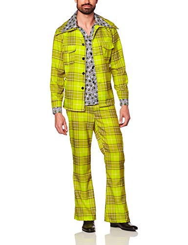 Polyester Leisure Suit (Men's Plaid Leisure Suit Costume, Plaid, One)