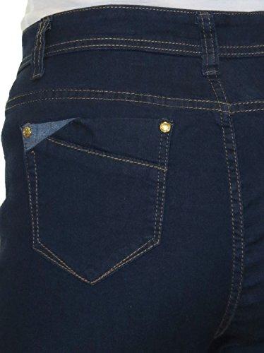 High Womens 14 Jeans Straight Blue Denim Waist Indigo Legs Stretch icecoolfashion 24 S5wqHH
