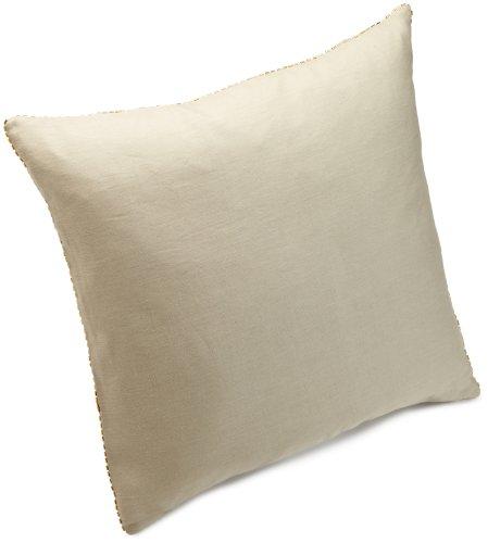 Calvin Klein Home Shimmer Border Pillow, Barley