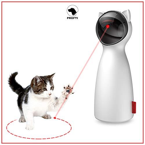 PROFTI Interaktives Katzenspielzeug – Laser Licht für aktive Katzen