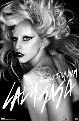 Lady Gaga Born This Way Music Poster Print - 22x34 Music