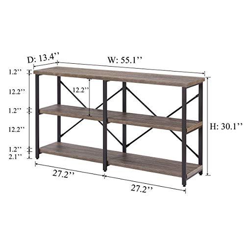 Bon Augure Rustic Console Sofa Table Industrial Hallwayentryway