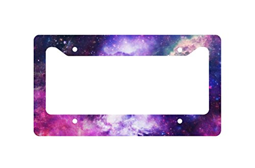 Astro Photography Nebula Space Galaxy License Plate Frame Sublimation Printed