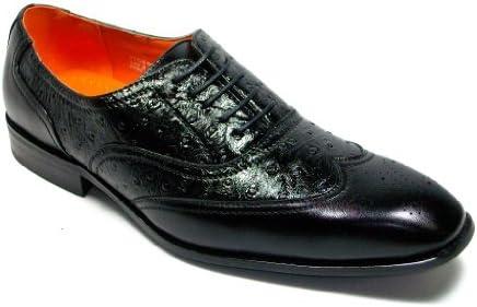 Ferro Aldo Men's 109125 Faux Ostrich Lace Up Wing Tip Dress Shoes