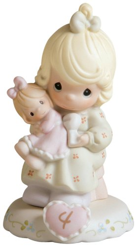 Precious Moments Growing In Grace Age 4 (Figurine Age Porcelain 4)