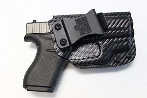 Multi Holsters Elite IWB FOMI Right-Hand Holster Compatible w/Glock 42 & Crimson Trace LG443 (red) (Black Carbon Fiber)