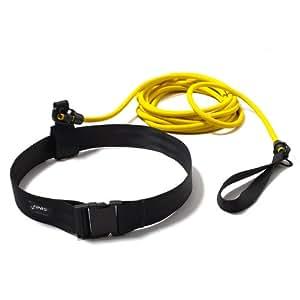 Finis 1.05.117 - Cuerda de entrenamiento con cinturón para natación, color amarillo