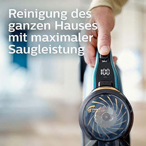 Philips Xc8147 01 Speedpro Max Aqua Kabelloser Staubsauger Mit Wischfunktion 8000 Series Akkusauger 360 Saugdüse 80 Min Akkulaufzeit Kunststoff Blau