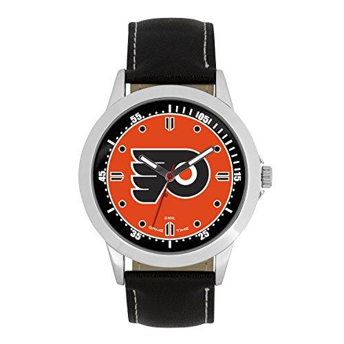 NHL Philadelphia Flyers Mens Player Series Wrist Watch, Silver, One Size ()